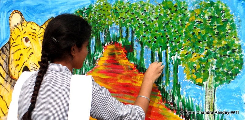 Sixty School Children Participate In Wall Painting Competition At
